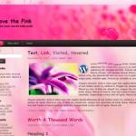 Love the pink Free WordPress Theme