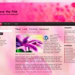 Love the Pink 3 columns Free WordPress theme