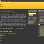 Elegant - Dark 3 Columns Free WordPress Theme
