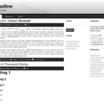 Simple and elegant 3 columns Free WordPress theme