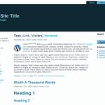 Simply Blue 3 columns Free WordPress Theme