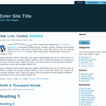 Simply Blue 2 columns Free WordPress Theme
